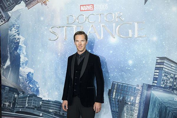 "Schauspieler Benedict Cumberbatch beim Fan Screening zum Kinostart von ""Doctor Strange"" im Zoo Palast in Berlin am 26. Oktober 2016. .© MARVEL/Disney/Folioscope/Hanna Boussouar"